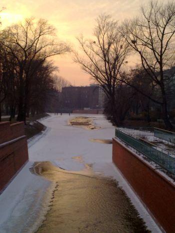 Zima nad Odrą.