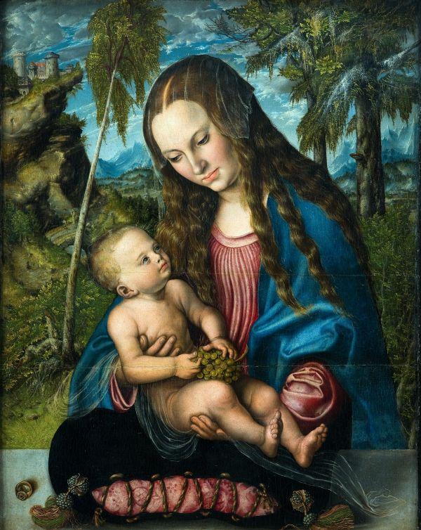 Lucas Cranach st., Madonna pod jodłami