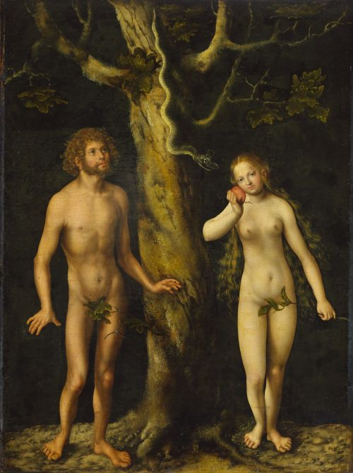 Lucas Cranach st., Adam i Ewa,
