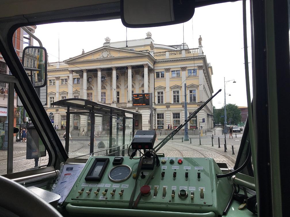 widok z tramwaju