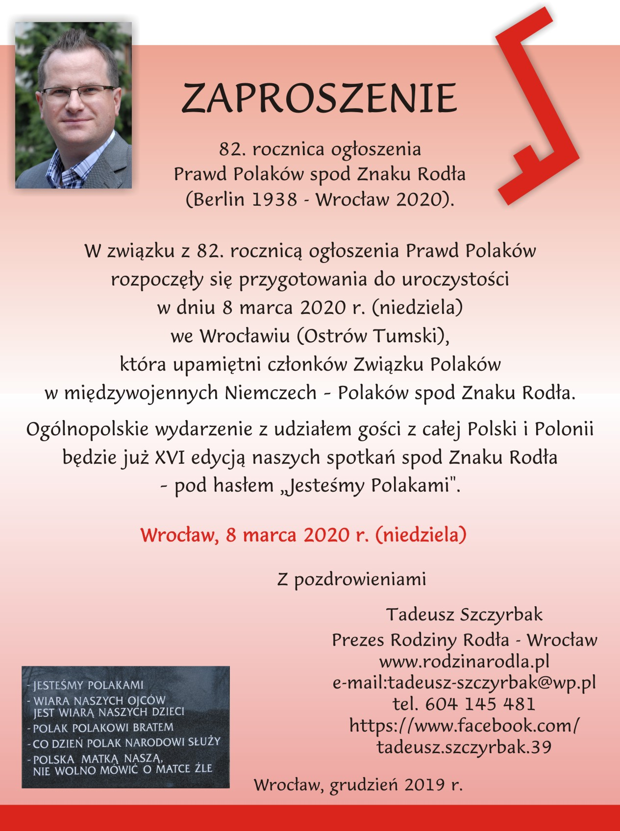 Rodło 2020 - 8 marca 2020 we Wrocławiu